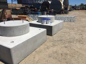 Precast wireless tower base